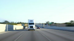 Traffic: Semi Truck Stock Footage