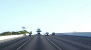 Stock Video Footage of Traffic: Semi Truck