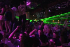 Raving, Clubing, Dancing, Rave, Ibiza, Travel, hot girl, Dance party, Partying,  - stock footage