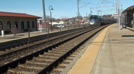 Train depot, station house Stock Footage