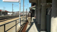 train depot, station house - stock footage