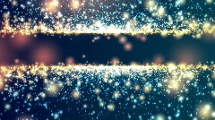 Particle Title Plate Orange And Cyan BG Loop - stock footage