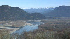 Chilliwack WS High Pan R Stock Footage