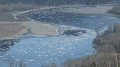 Fraser River Chilliwack MCU High Winter Ice Stock Footage