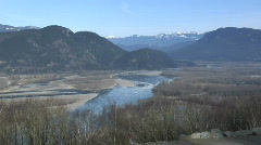 Fraser River Chilliwack WS High Winter Ice Stock Footage