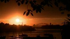 Sydney Harbour Sun Rise Sunrise Arkistovideo