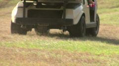 Utility Golf Cart - stock footage