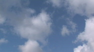 Sky timelapse flying clouds 2 Stock Footage