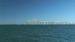 Sunshine Skyway Bridge Stock Footage