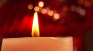 Candle light off Stock Footage