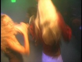 Two Pretty Girls Dancing in Club to DJ Party Mix Rave Night Adult Stock Footage