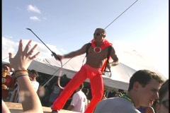 Rave music party dance FL gay man festival club house beach tecno Maimi best Stock Footage