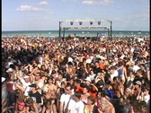 Crowd at Huge Party Miami Beach on Spring Break Florida Daytona College  Crowded Stock Footage