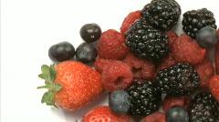 Blueberries, Strawberries, Blackberries 4 Stock Footage