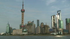 Shanghai Pudong Grand City Skyline View - stock footage