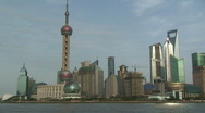 Stock Video Footage of Shanghai Pudong Grand City Skyline View