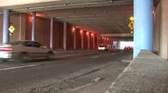 Cars In A Tunnel Stock Footage