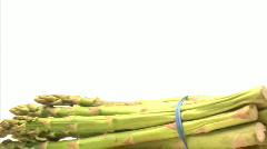 Bunch asparagus Stock Footage