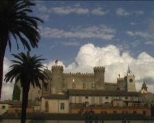 Castle in Bracciano Stock Footage