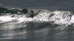 Chile Surfing-04 - stock footage