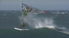 Chile Windsurfer Loop Stock Footage
