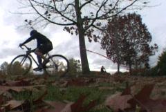 Bike Race Time Lapse Stock Footage