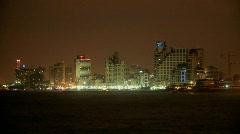 Stock Video Footage of Tel aviv seashore at night
