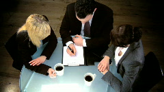 Young business team - stock footage