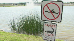 No Swimming And Do Not Feed Or Molest Stock Footage