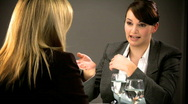 Business interview Stock Footage