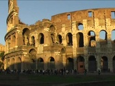 Coliseum in Rome Stock Footage