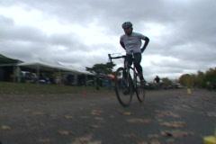 Bike Race Finish Line Series Stock Footage