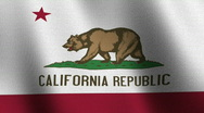 California state flag - seamless loop Stock Footage