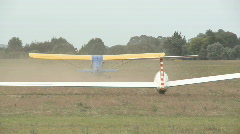 Glider liftoff Stock Footage