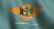 Delaware state flag - seamless loop Stock Footage