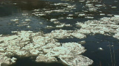 Fraser River MS IceFlow Pan R - L Stock Footage