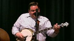 Joe Mullins Playing Banjo Stock Footage