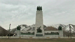 This is the Place Monument people M HD Stock Footage
