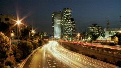 Stock Video Footage of Tel aviv ayalon night slow s 1