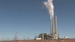 Coal Power Plant pollution pan rt P HD Stock Footage