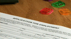 Filling application for employment Stock Footage
