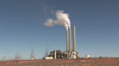 Power Plant in desert fast P HD Stock Footage