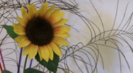 Sunflower decoration Stock Footage