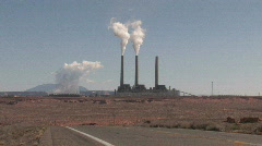 Power Plant pollute truck P HD Stock Footage