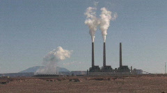 Power Plant pollute P HD - stock footage