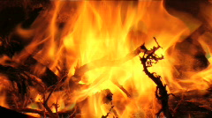 Camp Fire 2 Stock Footage