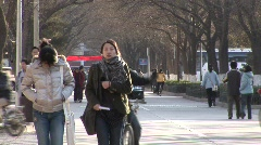 Stock Video Footage of Peking Uni. campus 1
