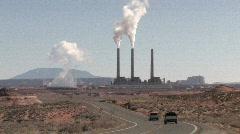 Navajo Power Plant Page Arizona trucks P HD Stock Footage