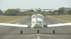 small plane lifts off - stock footage