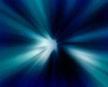 Blue lightrays loop Stock Footage